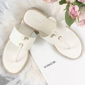 Vince leather Women's Caelan Flat Sandal